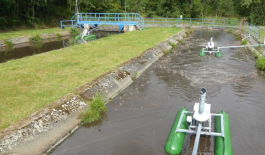 Replacement of rotating brush aerators in oxidation ditch