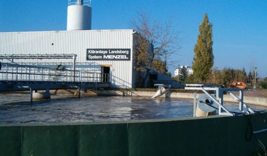 Addition of OxyStar Aerators in a circular activated sludge basin